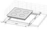 Integreeritav keraamiline pliidiplaat Hansa