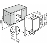 Built-in dishwasher, Miele / 9 place settings