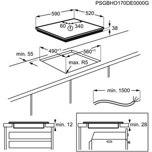 Integreeritud klaaskeraamiline pliidiplaat Electrolux