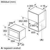 Integreeritav mikrolaineahi Bosch (21 L)
