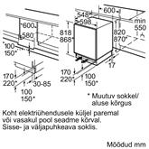 Built-in refrigerator Bosch (82 cm)