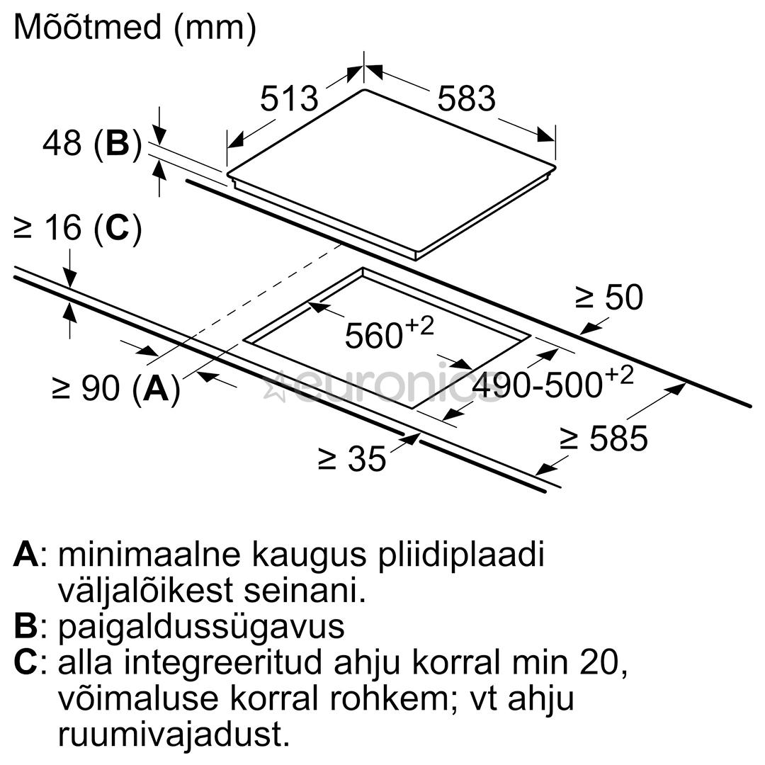 Интегрируемая керамическая варочная панель Bosch