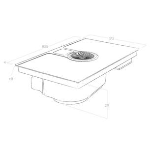 Integreeritav induktsioonplaat õhupuhastiga Elica NikolaTesla One