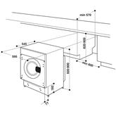Интегрируемая стиральная машина Whirlpool (7 кг)
