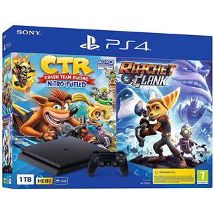 Gaming console Sony PlayStation 4 Slim (1 TB) + Crash Team Racing + Ratchet & Clank