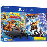 Игровая приставка Sony PlayStation 4 Slim (1 ТБ) + Crash Team Racing + Ratchet & Clank