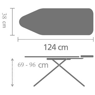 Ironing board Brabantia (B, 124 x 38 cm)