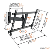 TV wall mount Vogel´s W52080 (40-65)