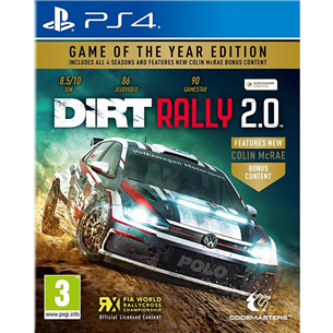 PS4 mäng DiRT Rally 2.0 Game of the Year Edition 4020628725570
