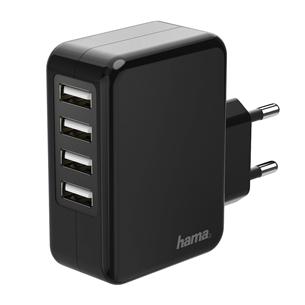 Toalaadija Hama USB 4x (24 W)