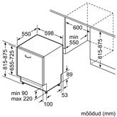 Integreeritav nõudepesumasin Bosch (14 nõudekomplekti)