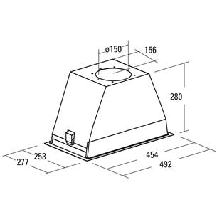 Built-in cooker hood Cata GT Plus 45 (645 m³/h)