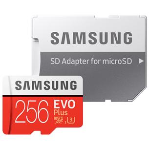 Micro SDXC mälukaart + adapter Samsung EVO Plus (256 GB)
