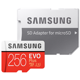 Micro SDXC memory card + adapter Samsung EVO Plus (256 GB)