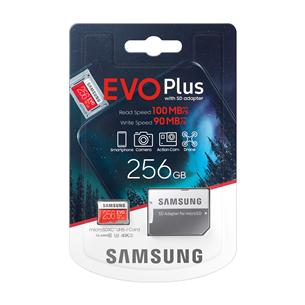 Карта памяти Micro SDXC + адаптер Samsung EVO Plus (256 ГБ)