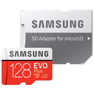 Micro SDXC mälukaart + adapter Samsung EVO Plus (128 GB) MB-MC128HA/EU