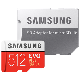 Micro SDXC mälukaart + adapter Samsung EVO Plus (512 GB) MB-MC512HA/EU