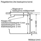 Integreeritav ahi Bosch (pürolüütilise puhastusega)