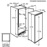 Integreeritav sügavkülmik Electrolux (204 L)