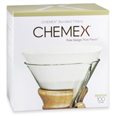 Pre-folded filter Chemex