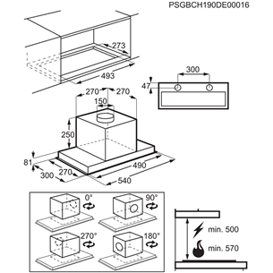 Integreeritav õhupuhasti Electrolux (700m³/h)