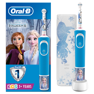 Electric toothbrush Braun Oral-B Frozen + travel case D100FROZENTRAVEL