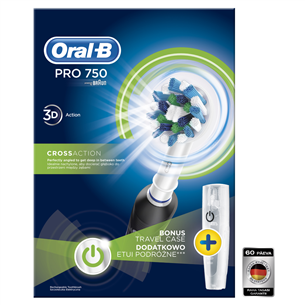 Electric toothbrush PRO750 Cross Action, Braun PRO1750B