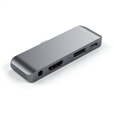 USB-C jagaja HDMI, USB ja 3.5mm Satechi