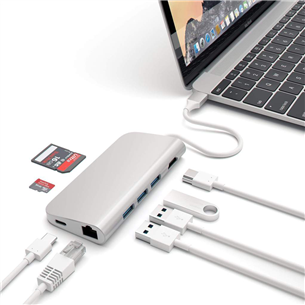 USB-C hub Multi-port 4K and Ethernet Satechi