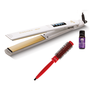 Hair straightener GA.MA Elegance Argan + argan oil + brush 28 mm