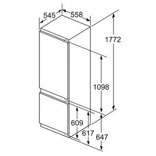 Интегрируемый холодильник Bosch (177 см)