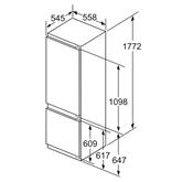 Integreeritav külmik Bosch (177 cm)