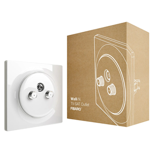 Nutipistik Fibaro Walli N TV-SAT Outlet (Z-Wave)