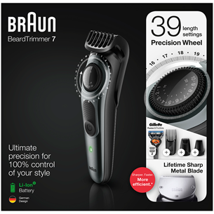 Beard trimmer Braun + Gillette Fusion razor BT7240
