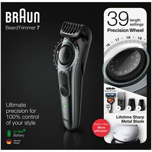 Триммер для бороды Braun + бритва Giilette Fusion BT7240