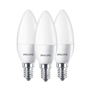 3 x LED lamp Philips (E14, 40W) 929001253633