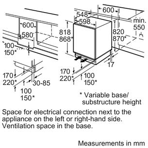Integreeritav külmik Bosch (82 cm)