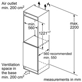 Integreeritav jahekapp Bosch (122 cm)