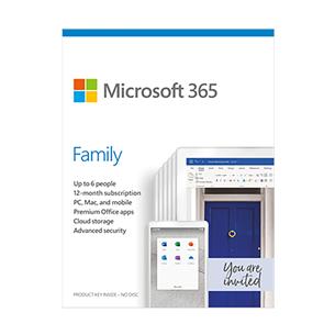 Microsoft 365 Family 2020 (ENG) 6GQ-01150