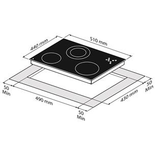 Интегрируемая керамическая варочная панель Fabita
