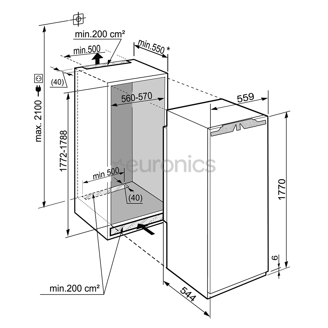 Integreeritav sügavkülmik Liebherr (213 L)