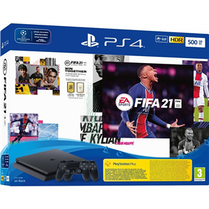 Mängukonsool Sony PlayStation 4 Slim (500 GB) + FIFA 21 711719831020