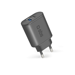 Wall charger USB and USB-C SBS