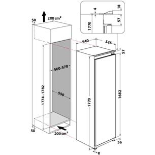 Built-in freezer Whirlpool (209 L)