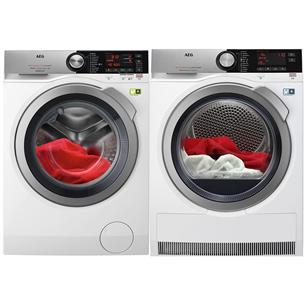 Washing machine + dryer AEG (9 kg + 8 kg) L8FBC69SA+T8DEC68S
