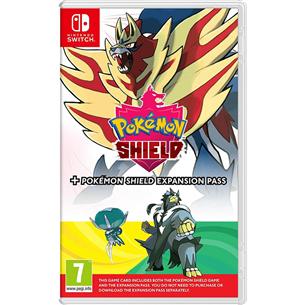 Switch game Pokemon Shield + Expansion Pass 045496426644