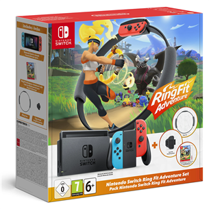 Gaming console Nintendo Switch + Ring Fit Adventure 045496453350