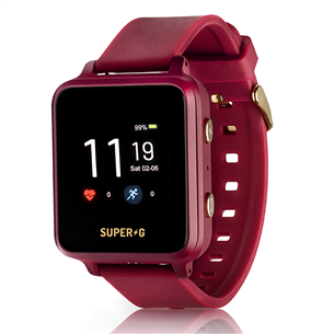 Kid's smartwatch Super-G Active SUPERGACTIVE-BURGUND