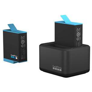 Двойное зарядное устройство + аккумулятор для камеры GoPro HERO9 Black
