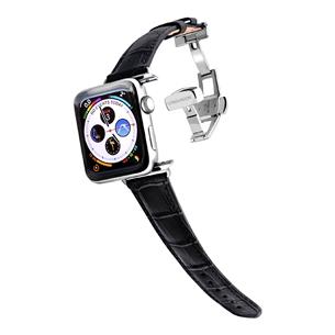 Apple Watch strap Longvadon (38 mm / 40 mm) LVBLACK38/40SILV